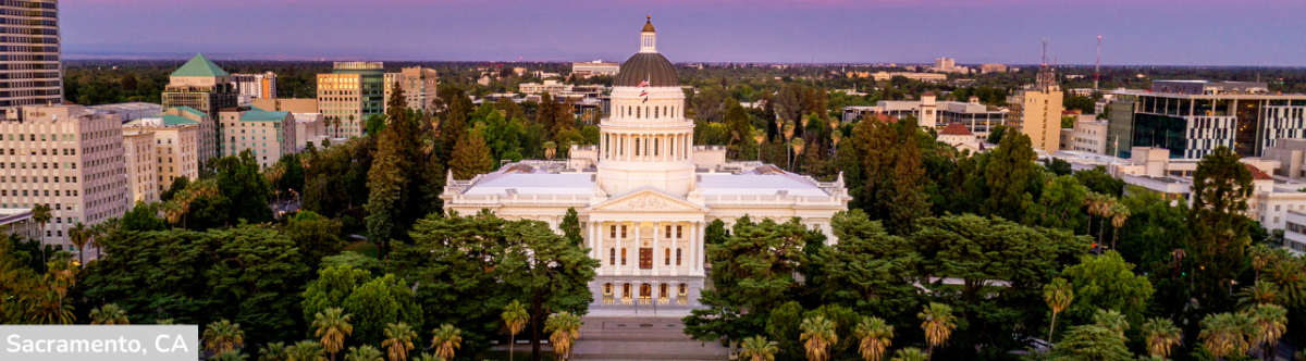 Photo of the Capitol Building in Sacramento, CA
